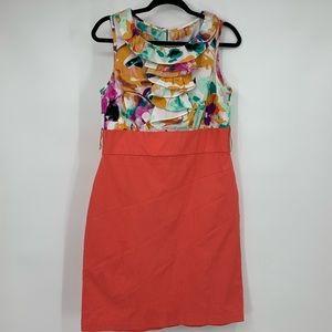 Alyx Limited dress sheath ruffles floral size 12